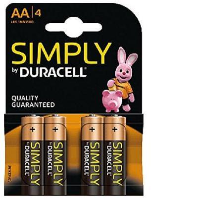 Duracell batterij: 4 x AA, 1.5 V