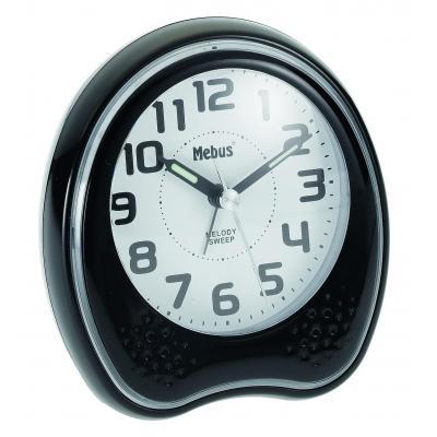 Mebus mantel/tafel klok: 42168 - Zwart