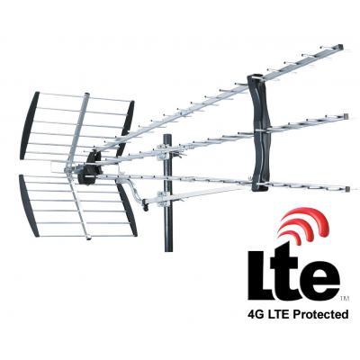 König antenne: UHF antenna 57 elements - Zwart, Zilver