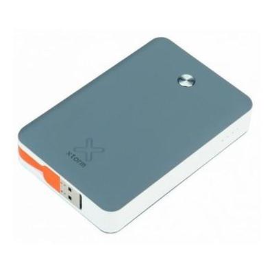 Xtorm powerbank: Universele Power Bank 9000mAh, 2x USB2.0 grijs, oranje