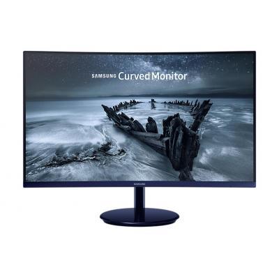 Samsung monitor: SyncMaster C27H580F - Zwart, Blauw