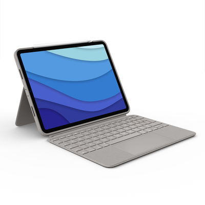 Logitech Combo Touch for iPad Pro 11-inch (1st, 2nd, and 3rd generation) - AZERTY Mobile device keyboard - Zand