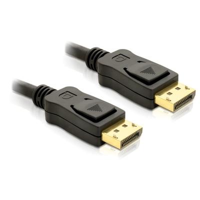 DeLOCK Cable Displayport 3m male - male Gold - Zwart