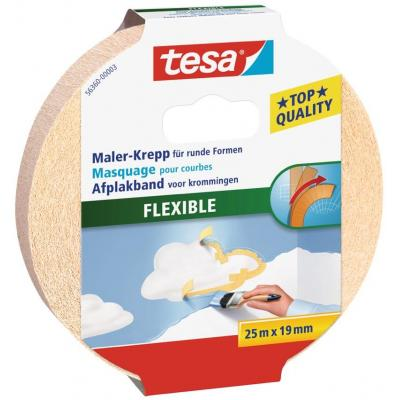 Tesa : Afplakband Flexible - Crème