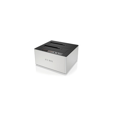 Icy box HDD/SSD docking station: IB-121CL-6G - Zwart, Zilver