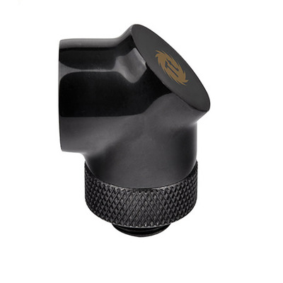 Thermaltake Pacific G1/4 90 Degree Adapter, CU, 100 g, Black Cooling accessoire - Zwart