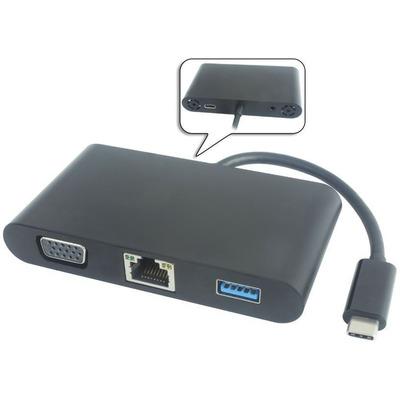 Microconnect USB3.1CCOM4S Netwerkkaart - Zwart