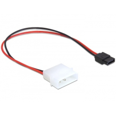 DeLOCK IDE power (Molex) - SATA power 6 pin - Zwart,Rood
