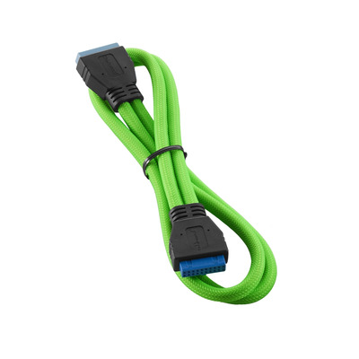 Cablemod ModMesh, Internal, USB 3.0, 50cm, Light Green USB kabel - Groen