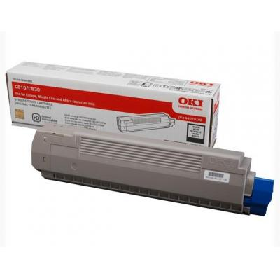 OKI cartridge: Black Toner Cartridge - Zwart