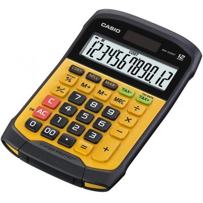 Casio calculator: 12-Digits BIG LC-Display, Plastic Keys, Water/Dust-Resistance, 1x CR2032, 175g, Yellow/Black - Zwart, .....