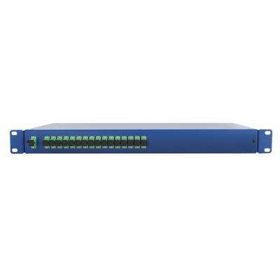 Spaun SOV 19 1/16 SC/APC Fiber optic adapter - Blauw