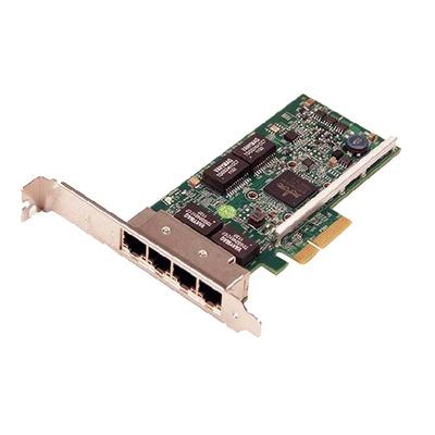 Dell netwerkkaart: Broadcom 5719 QP 1Gb netwerkinterfacekaart - Groen