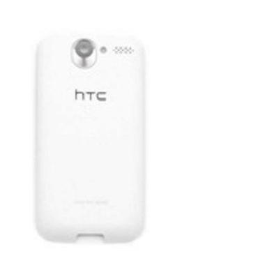 Microspareparts mobile telefoon cover: HTC Desire Back Cover, White - Wit