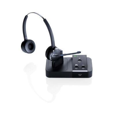 Jabra headset: PRO 9450 Duo EMEA - Zwart