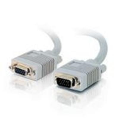 C2G 0.5m Monitor HD15 M/F cable VGA kabel  - Grijs