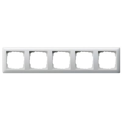 GIRA Afdekraam Standaard 55 zuiver wit glanzend, vijfvoudig