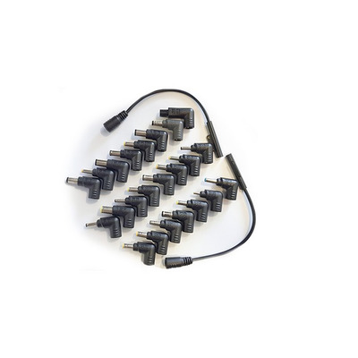 Inter-Tech Adapter set with 25 different adapters. For types see data sheet NB-90SA. Laptop accessoire - Zwart
