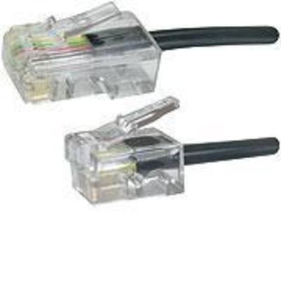 Microconnect MPK455S Telefoon kabel - Zwart