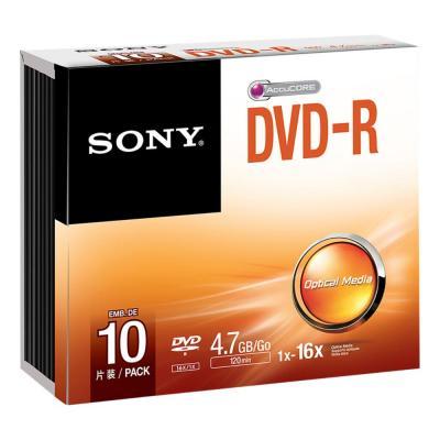Sony DVD: Verpakking van 10 stuks 16X DVD-R in slanke doosjes. Ideaal voor het snel maken van opnamen en voor .....