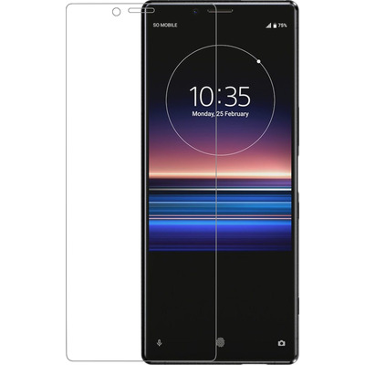 Azuri Tempered Glass curved RINOX ARMOR - transparant - Sony Xperia 1 Screen protector