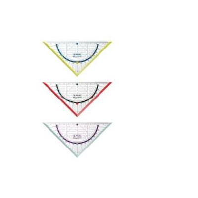 Herlitz driekhoek: Geometry triangle my.pen 16cm plastic - Blauw, Rood, Transparant, Geel