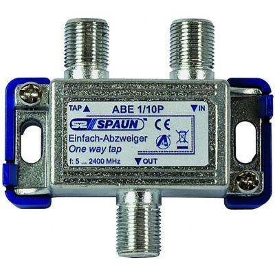 Spaun ABE 1/10 P Kabel splitter of combiner - Blauw, Zilver