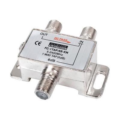 König kabel splitter of combiner: 1-Weg tap 6 dB geschikt voor satelliet toepassingen