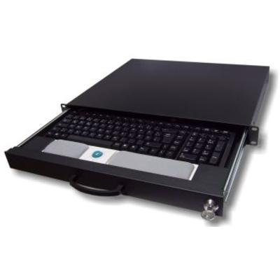 "Aixcase AIX-19K1U-B 19"" rack Rack console - Zwart"