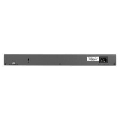 Netgear ProSAFE XS708T 8x 10GBASE-T copper ports, 2x SFP+ 1000/10GBASE-X fiber ports Switch - Zwart