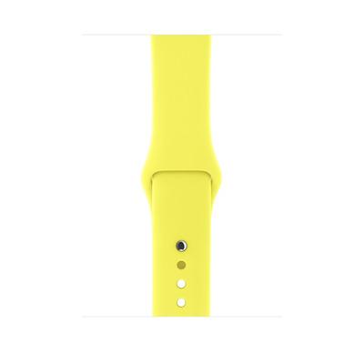 Apple horloge-band: Sportbandje - Neongeel (42 mm), S/M en M/L