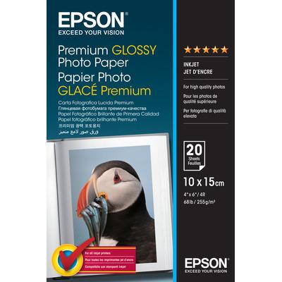 Epson Premium, 100 x 150 mm, 255g/m² Fotopapier - Wit