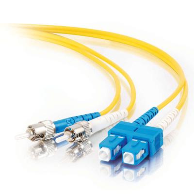 C2G 5m SC-ST 9/125 OS1 Duplex Singlemode PVC Fibre Optic Cable (LSZH) - Yellow Fiber optic kabel