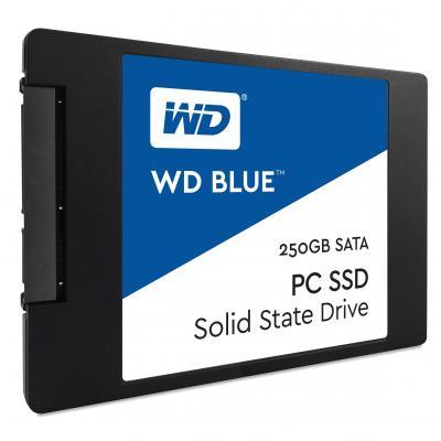 Western digital SSD: Blue PC SSD 250GB - Zwart, Blauw, Wit