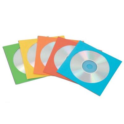 Fellowes 50x CD enveloppen papier - Multi kleuren