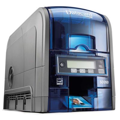 Datacard plastic kaart printer: SD260 - Blauw, Zilver