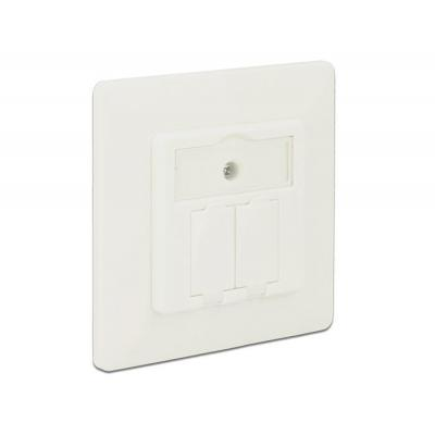 Delock wandcontactdoos: Keystone Wall Outlet 2 Port compact - Wit