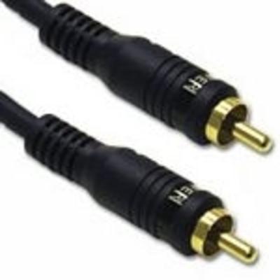 C2G 5m Velocity Bass Management Subwoofer Cable - Zwart