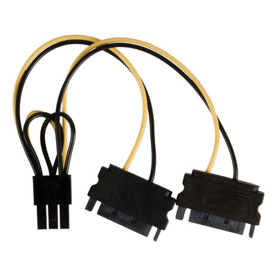 Valueline Internal power splitter cable PCI Express female - 2x SATA 15-pin male 0.15 m multicolour - .....