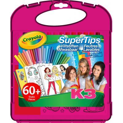 Crayola viltstift: K3 Supertips markers set - Multi kleuren