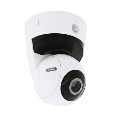 Abus beveiligingscamera: Full HD 720p, WLAN, 52,4 °, 4,0 mm - F2.0 mm, DC, RJ45, microSD - Wit