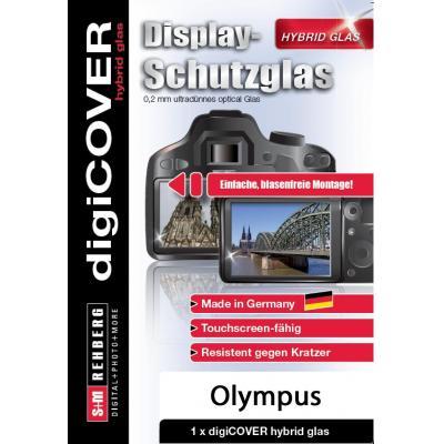 DigiCover Hybrid Glass for Olympus OM-D E-M1/E-M10 Screen protector - Transparant