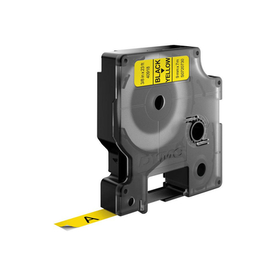 DYMO D1 -Standard Labels - Black on Yellow - 9mm x 7m Labelprinter tape