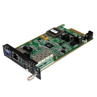 StarTech.com Gigabit ethernet glasvezel mediaconverterkaartmodule met open SFP-sleuf Media converter - .....