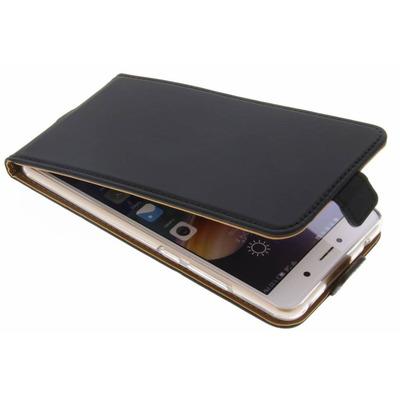 Luxe Softcase Flipcase Huawei Y7 (2017) - Zwart / Black Mobile phone case