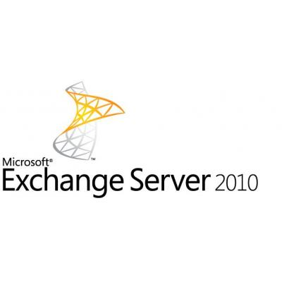 Microsoft software: Exchange Server 2010, DVD, 64bit, 5 User, DE