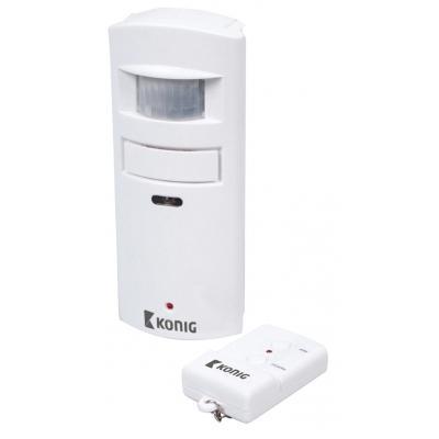 König bewegingssensor: Motion detector with alarm 130 dB, White