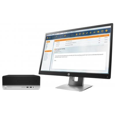 Hp pc: ProDesk DESKTOP BUNDEL (1JJ60EA+M1N99AT) ProDesk 400 SFF Intel Core i5-7500 + E240 monitor - Zwart, Zilver