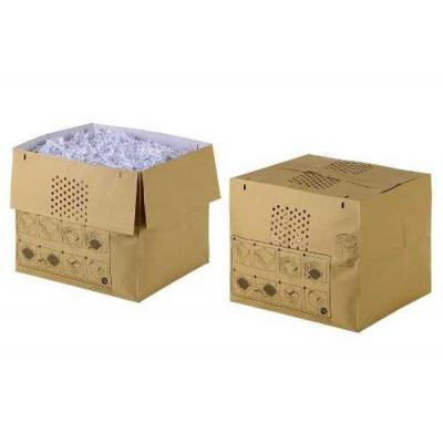 Rexel papier-shredder accesoire: Uitvouwbare Afvalzak voor Auto+ 500X/M Papiervernietiger (50) - Bruin