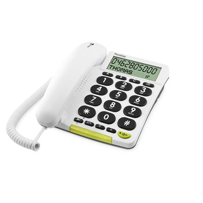 Doro dect telefoon: PhoneEasy 312cs - Wit